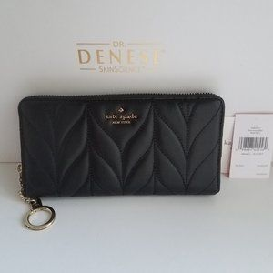 $139 *NEW* Kate Spade Black Quilted Wallet